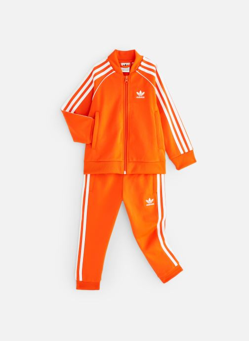 Ropa Adidas Originals Superstar Suit K Naranja vista de detalle / par